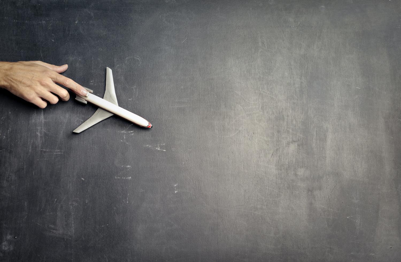 Airlplane and Chalkboard