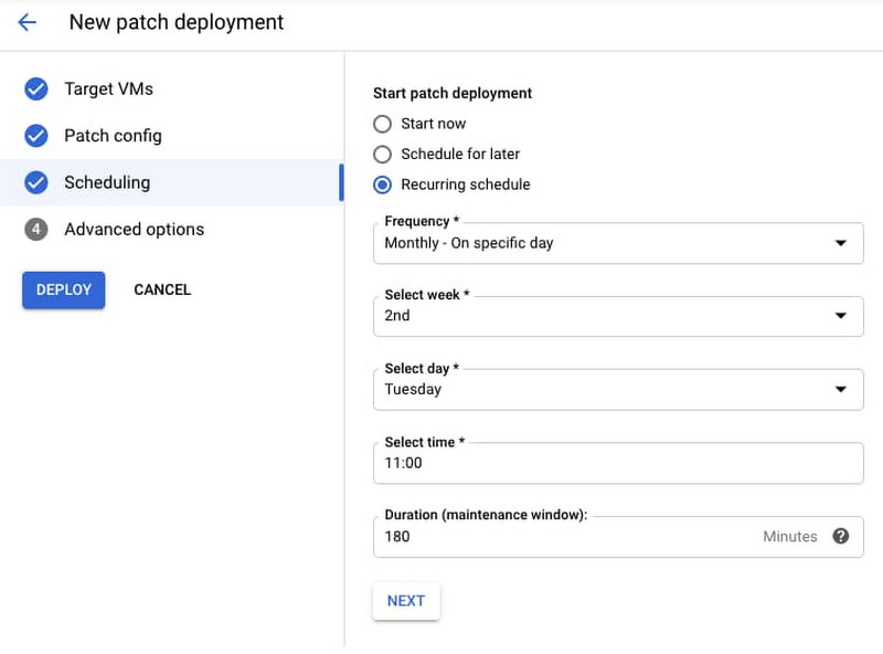 Google Cloud | New patch deployment scheduling