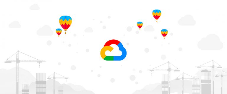 Google Cloud | Crane, Balloons and Scaffolding