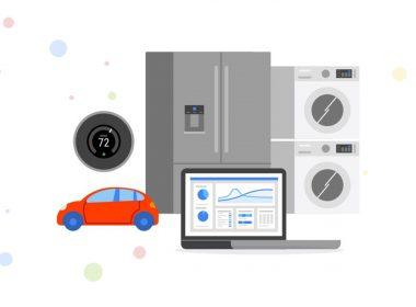 Google Cloud | IoT | Car, Smart Ref, Laptop, Dashboard