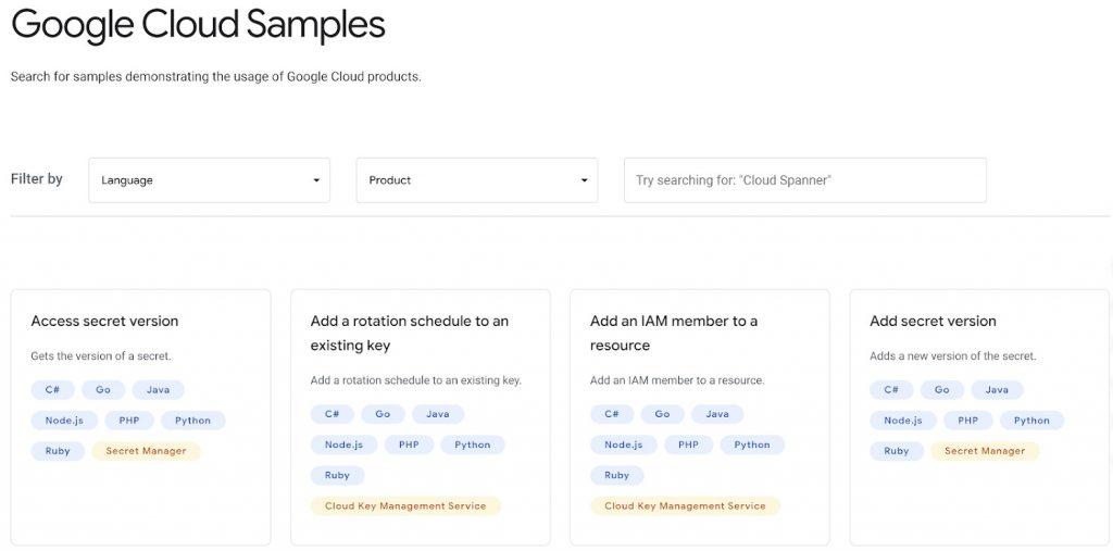 Google Cloud Samples