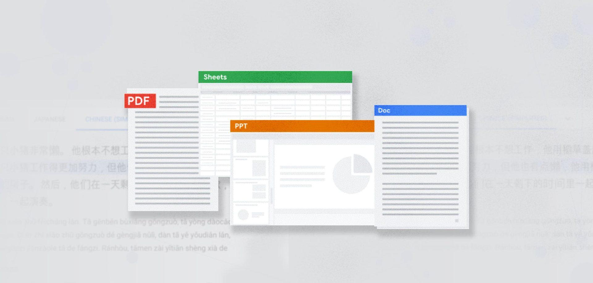 Google Cloud   AI   Doc   PDF   Sheets   PPT